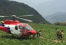 Helicopter distribution in Sindhupalchok