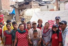 Salvation Army response team in Nepal