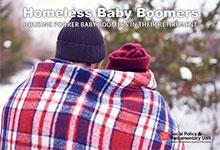cover image from homeless baby boomers report by Social Policy Unit