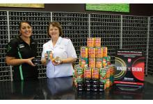 Resene Johnsonville ColorShop staff member Jeseka Pile with Mjr Lesley Nicolson