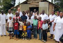 Captains Ian and Liz Gainsford in Tanzania.