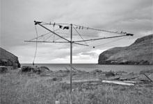 a broken washing line