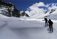 Ian Hutson trekking in the Himalayas