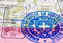 a visa stamp in a passport