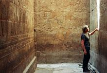 Graham Burt inside the Temple of Luxor