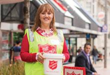 Jenny collecting for Red Shield Appeal