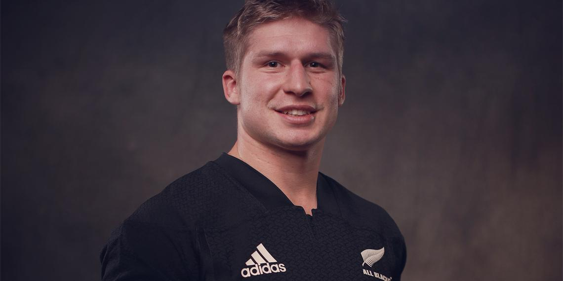 Jack Goodhue of the All Blacks