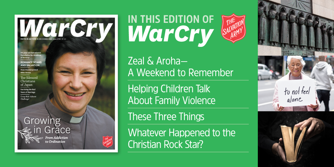 1 december 2018 war cry cover