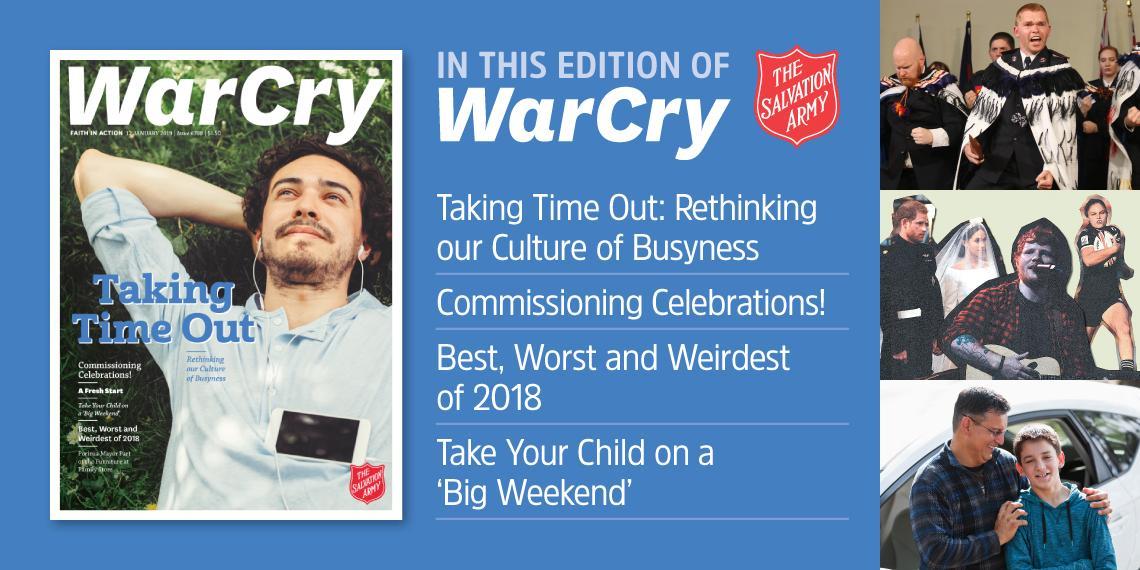 12 January 2019 War Cry promo image