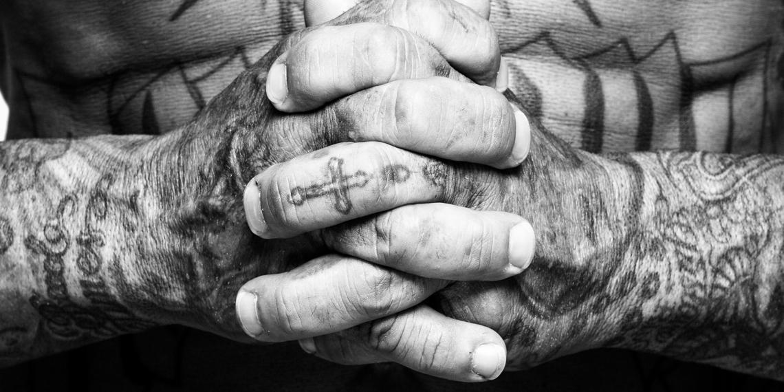 a tattoed man