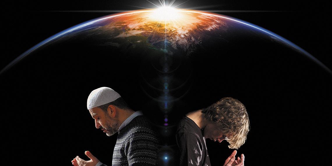 A Muslim and Christina praying