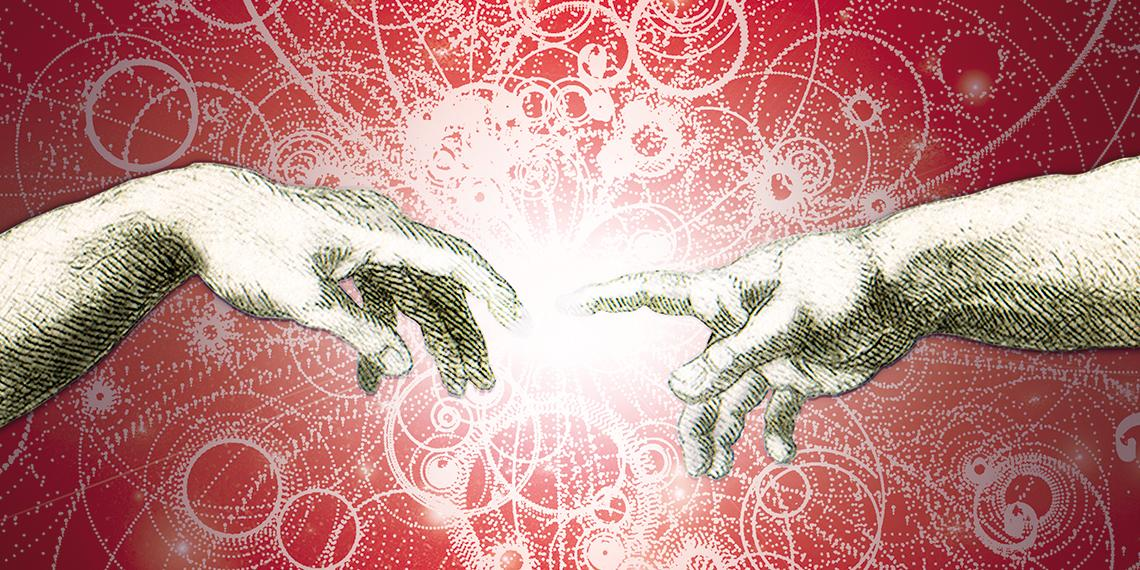 the hand of God touching man