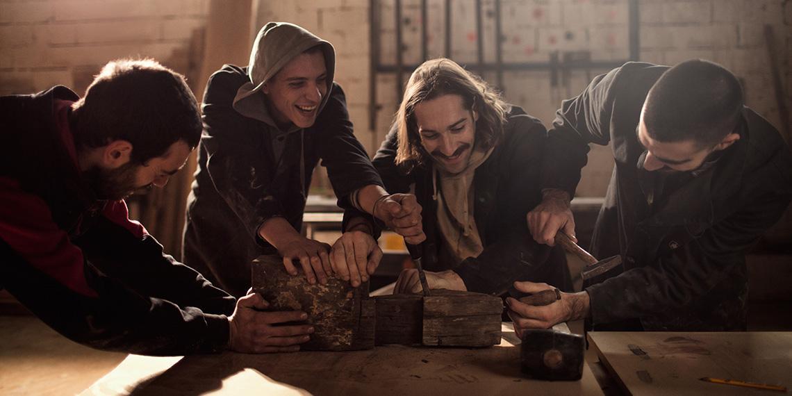 men having fun