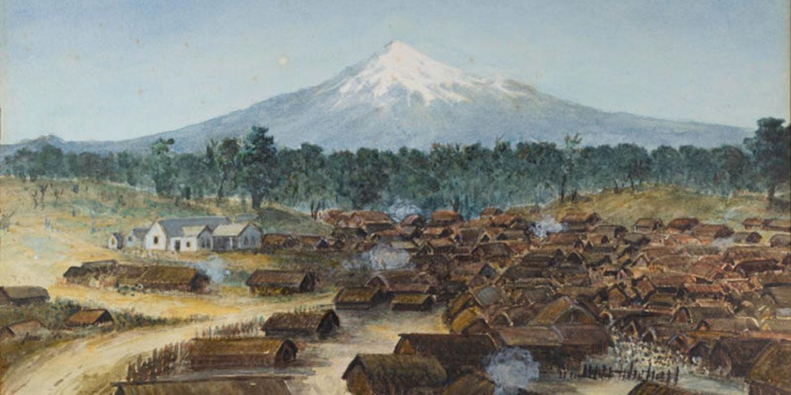 Painting of Parihaka, 1881