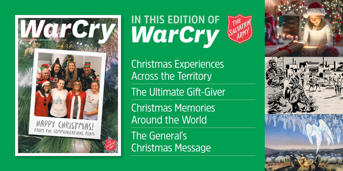 War Cry Christmas edition 2019 promo
