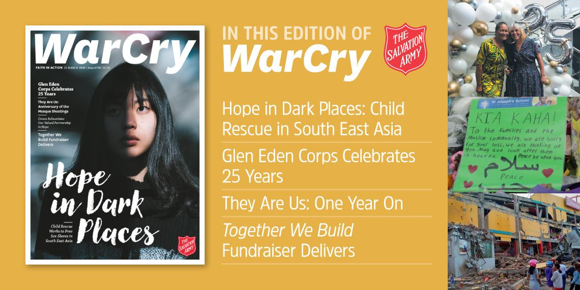 War Cry 21 March 2020 edition promo