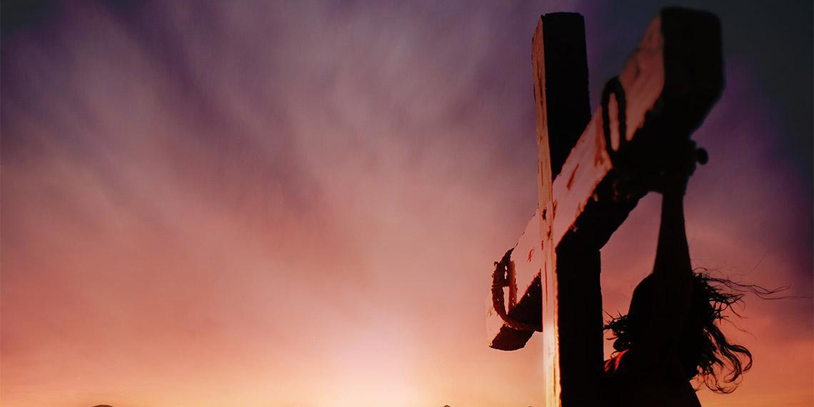 Sunset sky on Cross