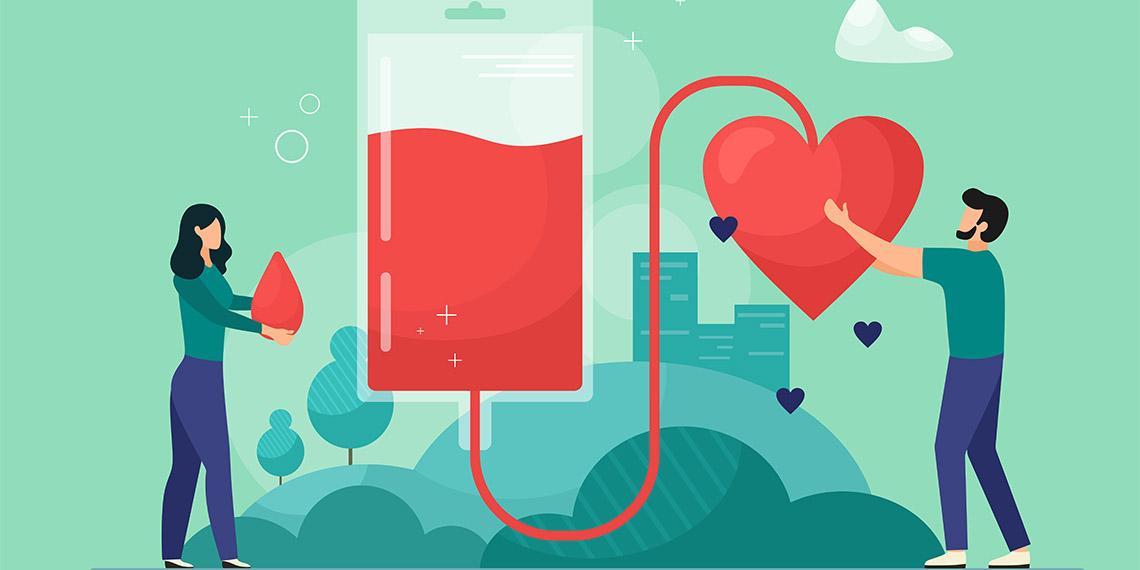 Blood donation illustration