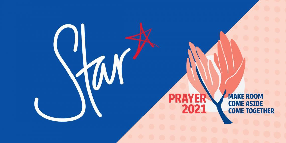 Year of Prayer logo with Star Christian Radio logo beside it