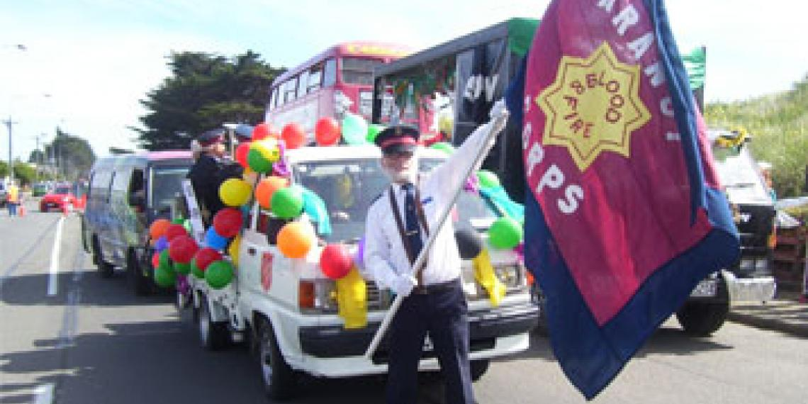 Aranui Corps on parade