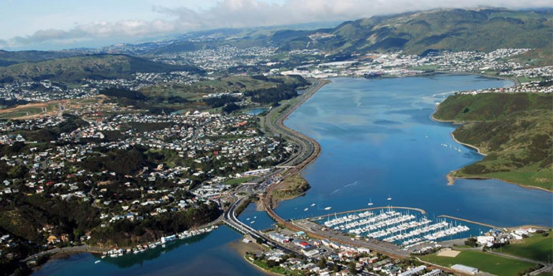 aerial shot of Porirua region