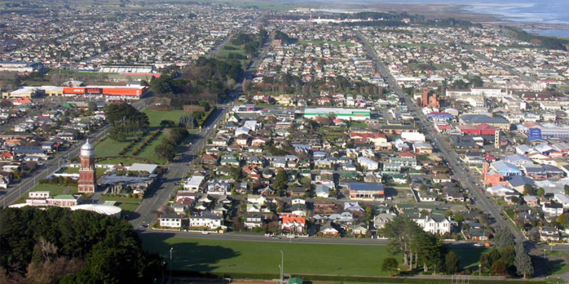 Invercargill from the air