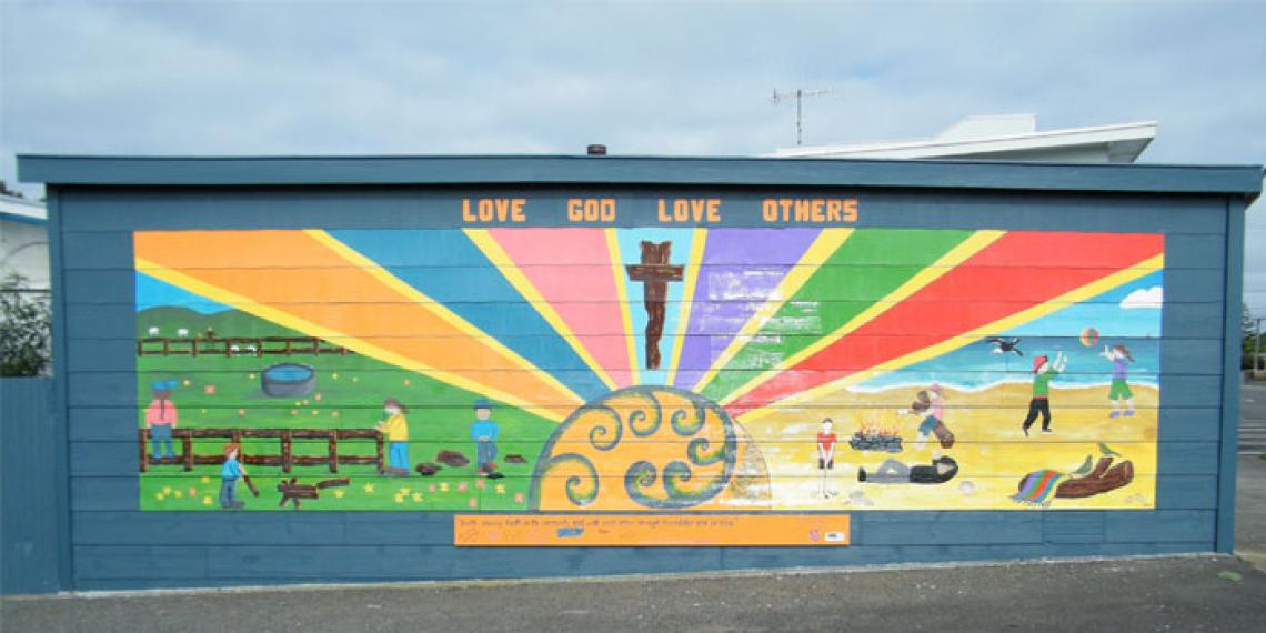 Mural on Foxton Corps building