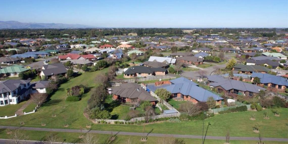aerial view of Rolleston