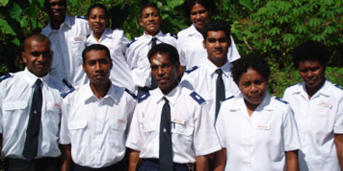 Group of Salvation Army Labasa Corps soldiers