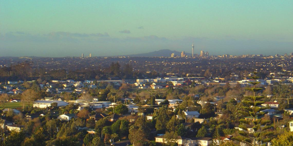 a view across Auckland from Glen Eden