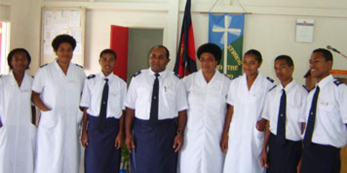 Group of Salvation Army soldiers