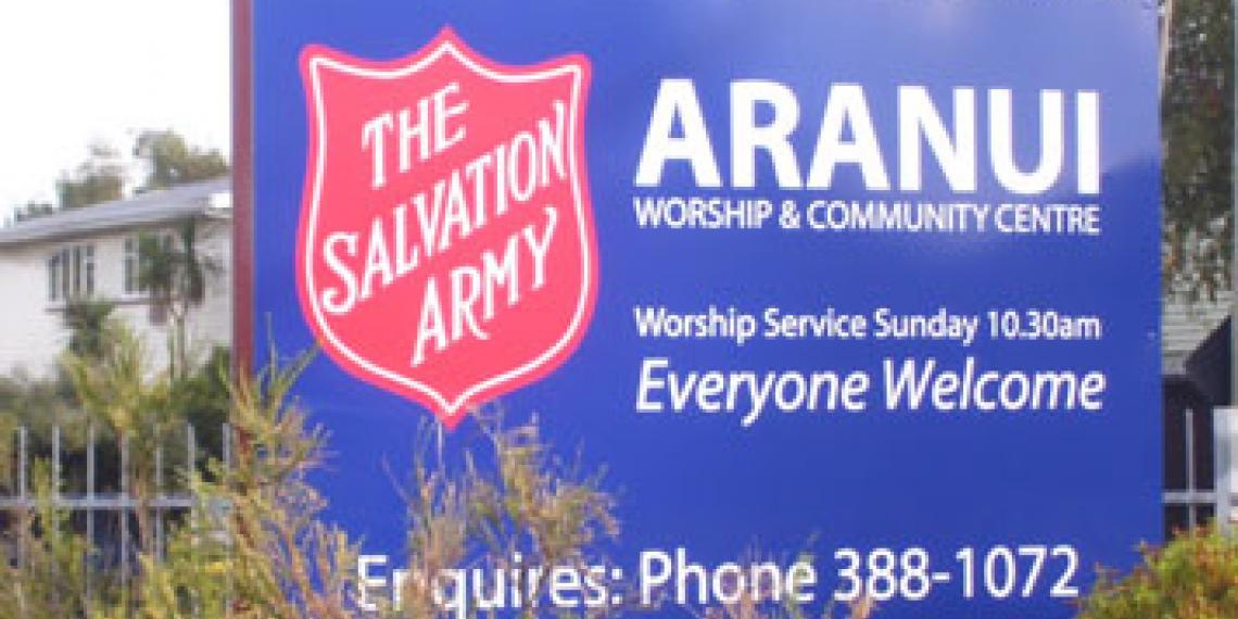 Aranui Corps sign
