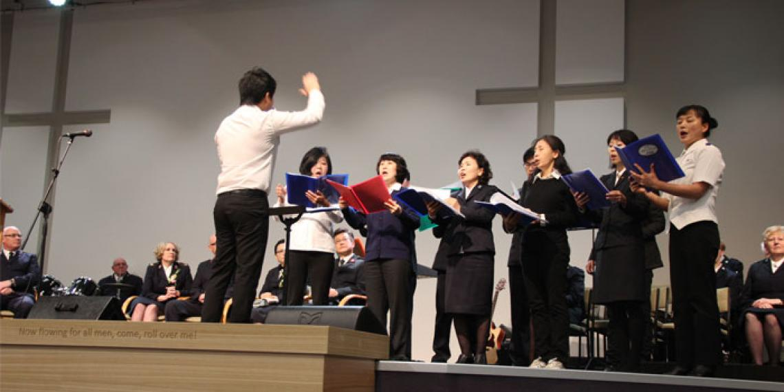 Korean Corps choir singing