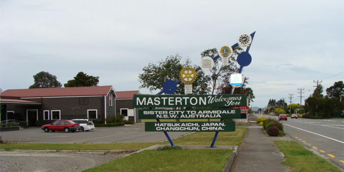 Welcome to Masterton sign
