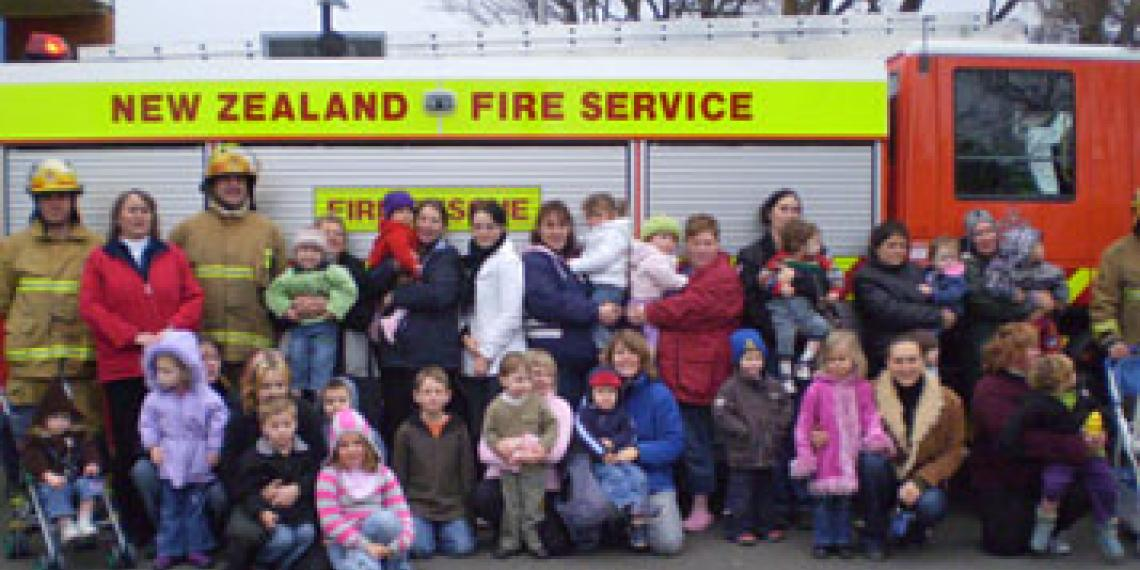 Gore Kids group trip to the fire station