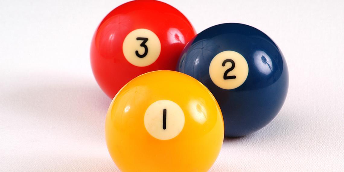 3 pool balls