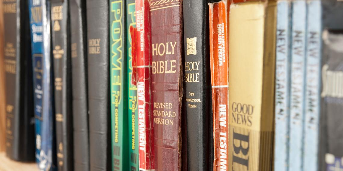 a row of bibles