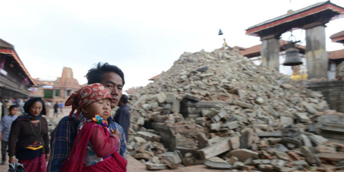 Nepal Earthquake 2015 scene