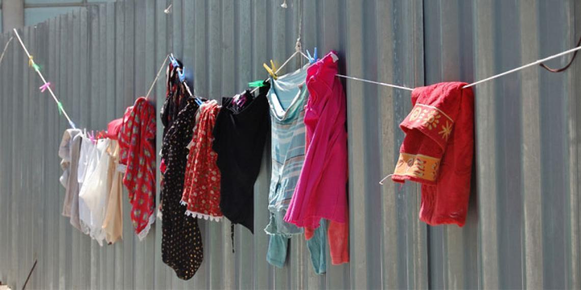 washing on a fence