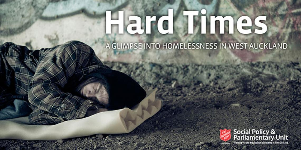 Cover image of 2015 Hard Times homelessness report by SPPU.