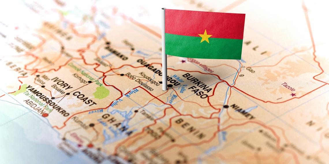 map and flag of Burkina Faso