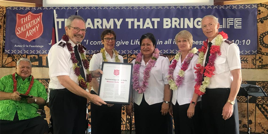 Salvation Army begins work in Samoa- opening ceremony