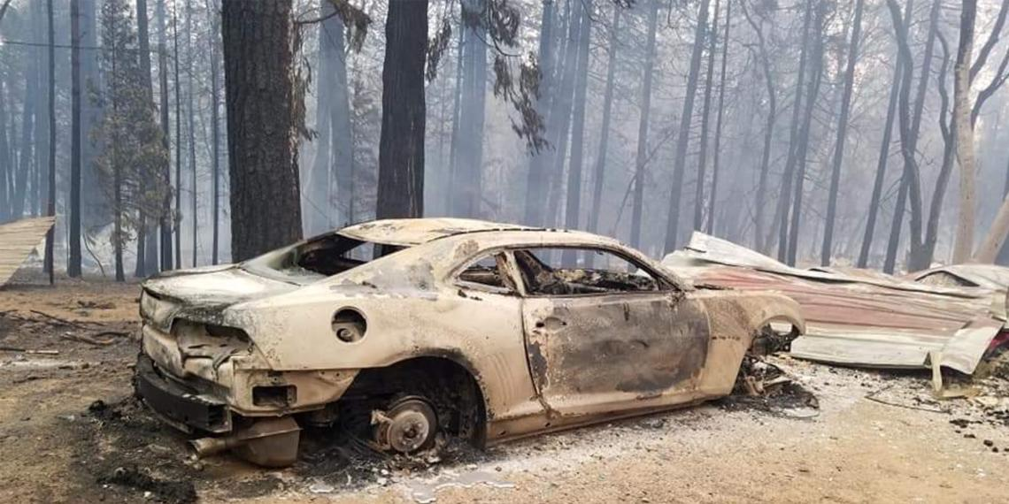 burnt our car in Paradise California