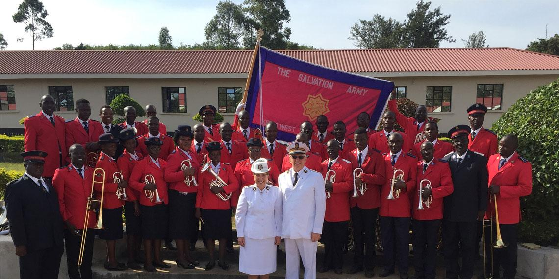 The General and Commissioner Rosalie pictured with the Kenya Staff Band