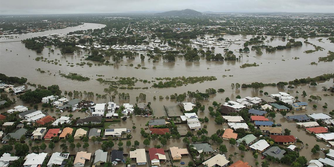 Flooding in Townsville in Queensland Australia