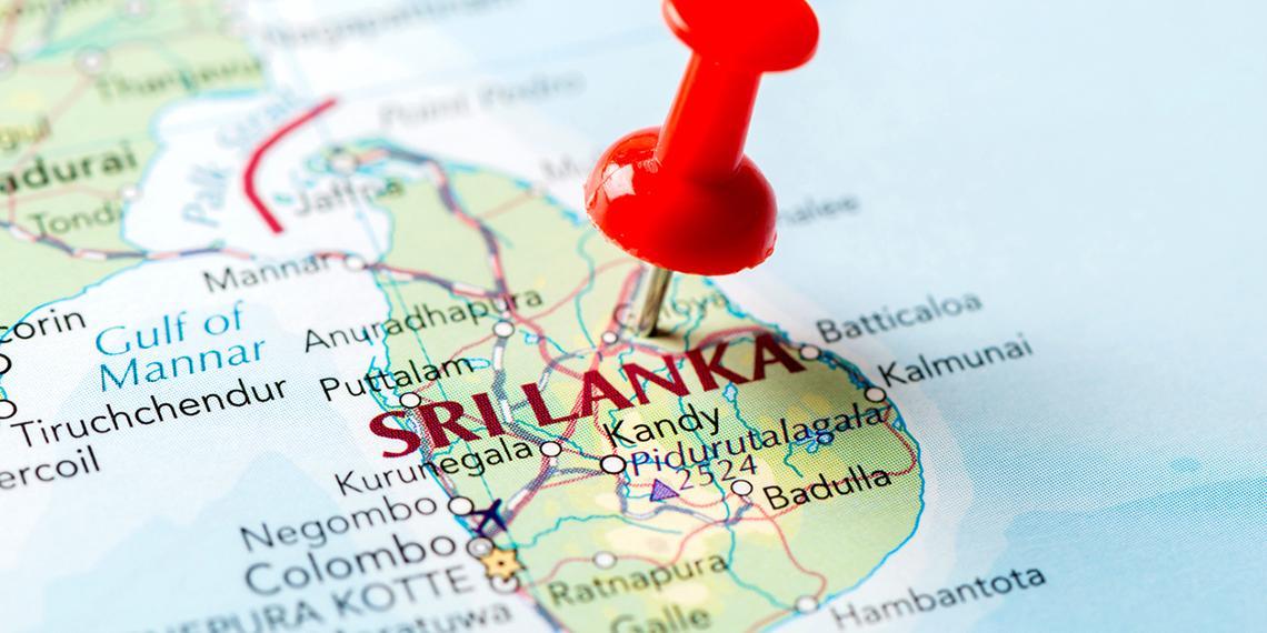 a map of sri lanka