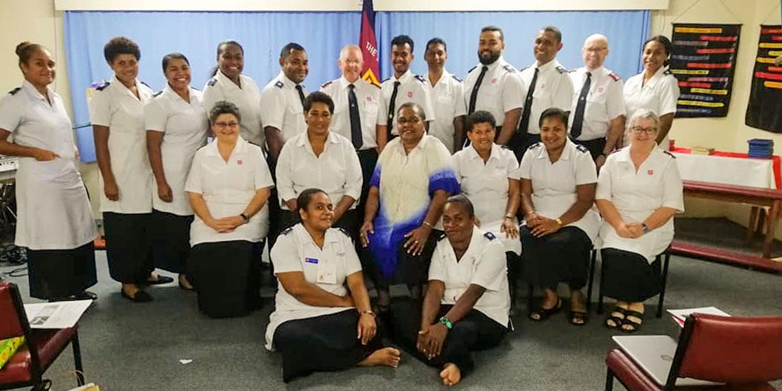 Soldier's Brengle group in Fiji