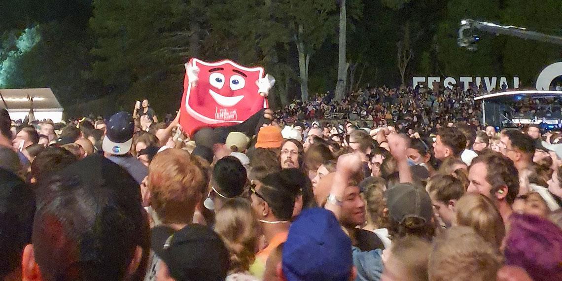 Shieldy crowd surfing