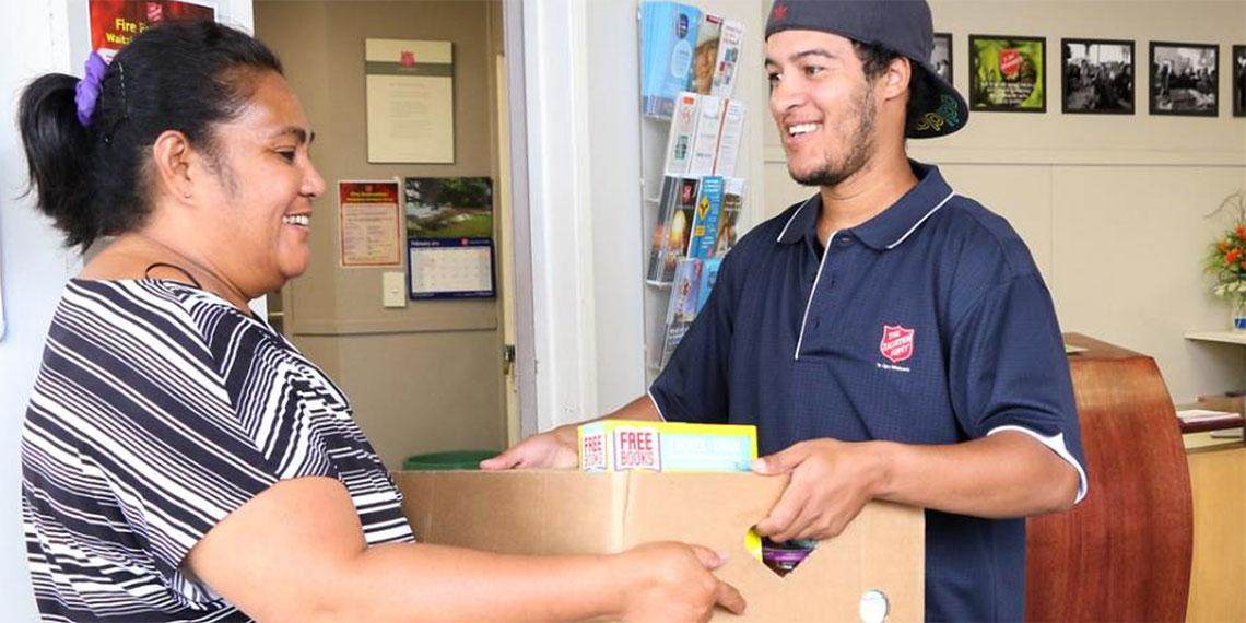 Salvation army helping hand