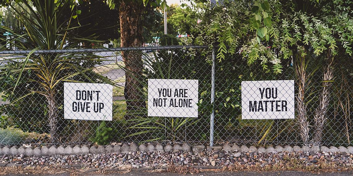 You matter sign on fence